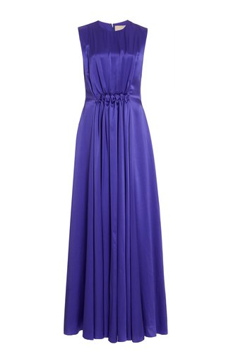 Alesis Shirred Silk Gown