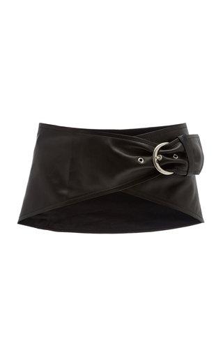 Mosa Wide Leather Waist Belt