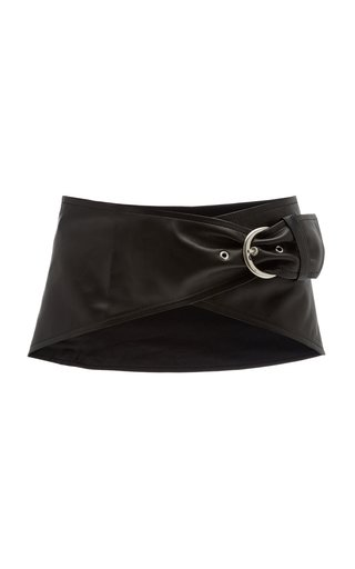Mosa Wide Leather Waist Belt