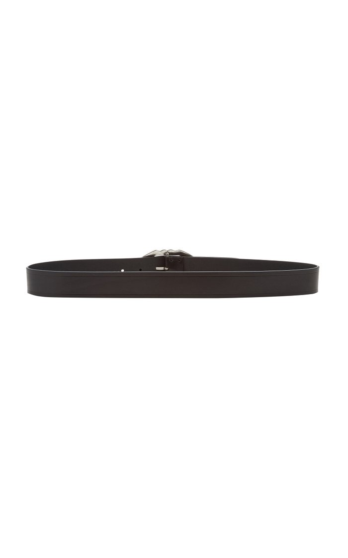 Bucky Buckled Leather Belt