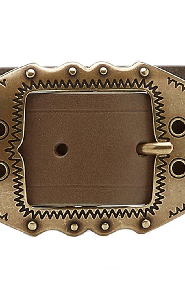 Bucky Buckled Leather Belt