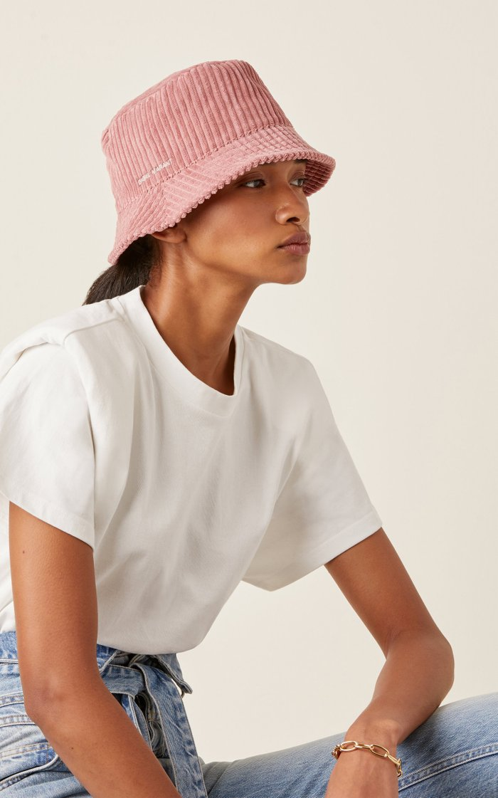 Haley Logo-Embroidered Corduroy Bucket Hat