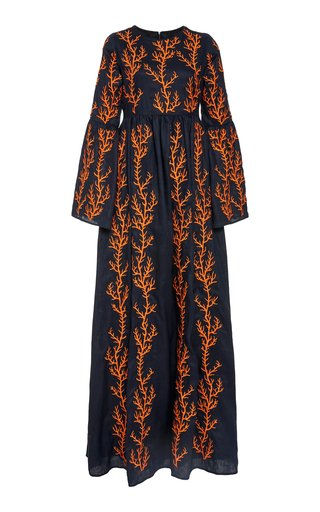Specialorder-Papaya Arrecife Embroidered Maxi Dress-YB
