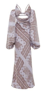 SpecialOrder-Open-Front Printed Maxi Dress-MF