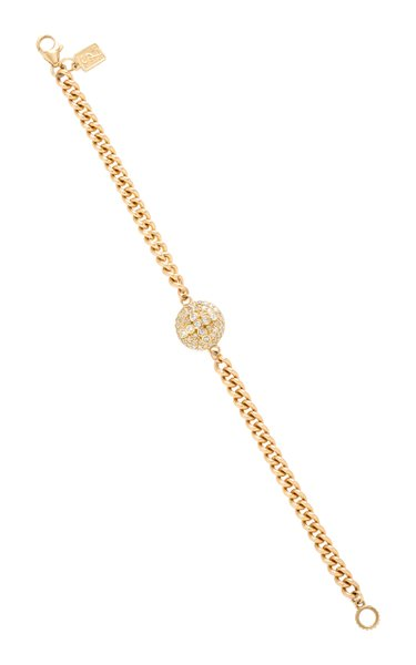 14K Gold And Diamond Bracelet
