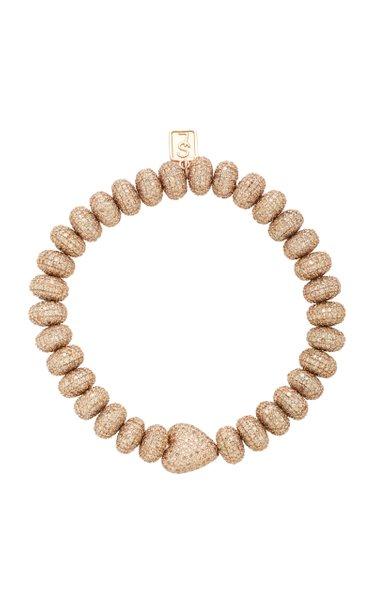 14K Rose Gold And Diamond Bracelet