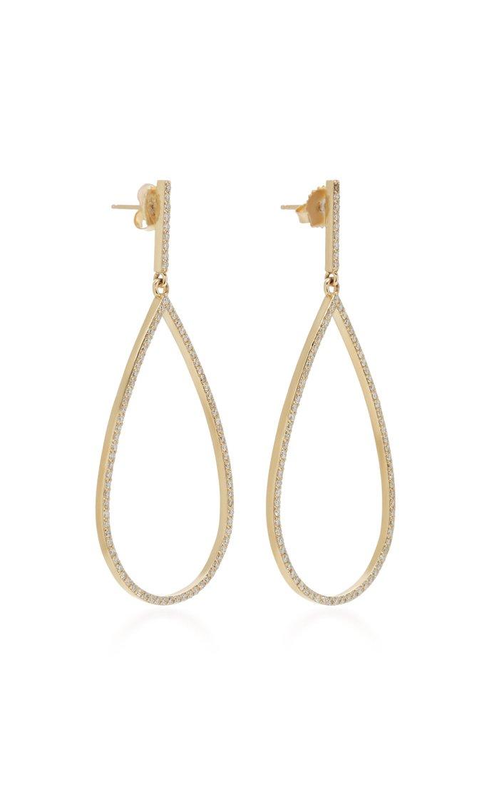 14K Gold And Diamond Earrings