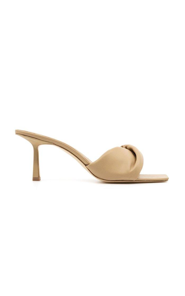 Twist Leather Sandals