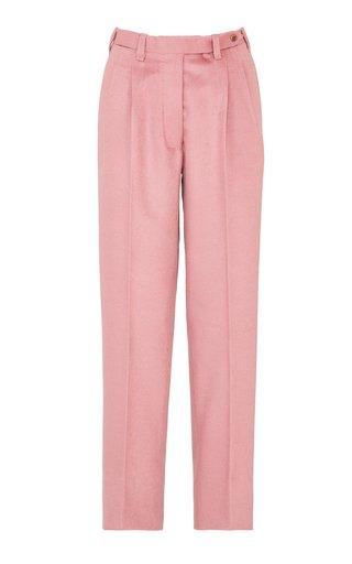The Cornelia Cashmere Pleated Straight-Leg Trousers