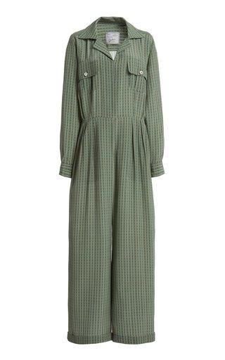 The Lauren Silk-Crepe De Chine Jumpsuit