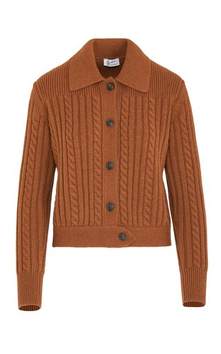 The Teresa Cable-Knit Wool-Cashmere Cardigan