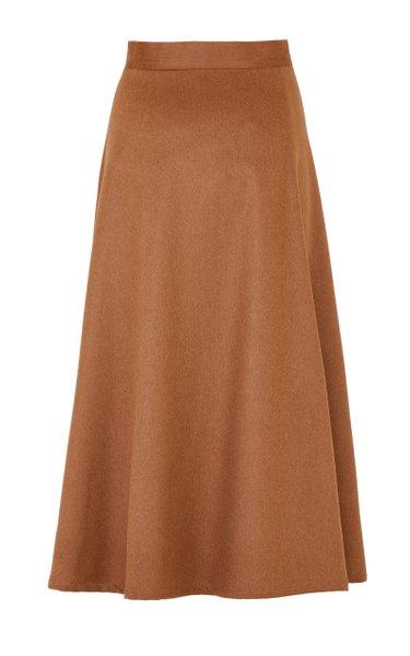 The Ada Camelhair Midi Skirt