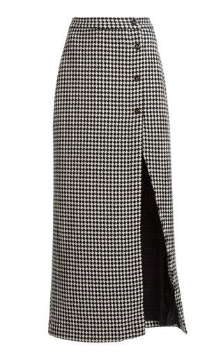 The Sadie Checked Wool Skirt