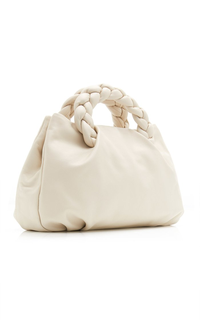 Bombon Large Braided Leather Top Handle Bag