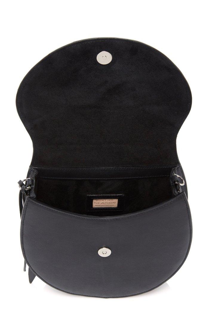Large Leather Saddle Shoulder Bag
