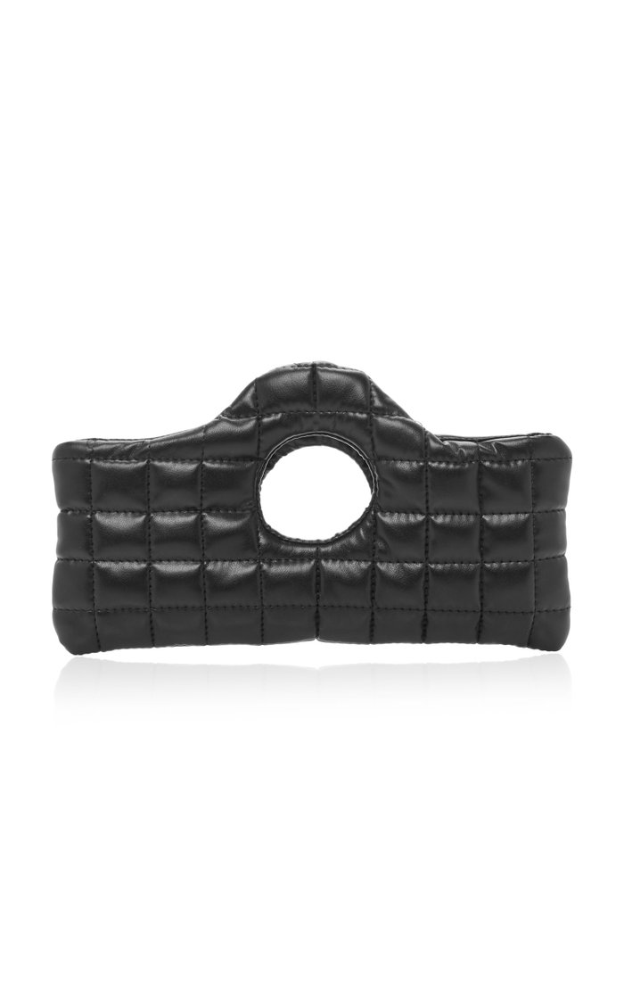 Ari Mini Quilted Leather-Effect Clutch