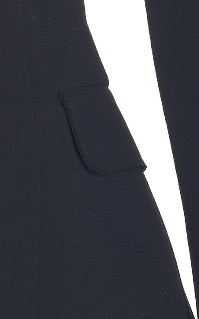 Peplum-Detailed Crepe Top