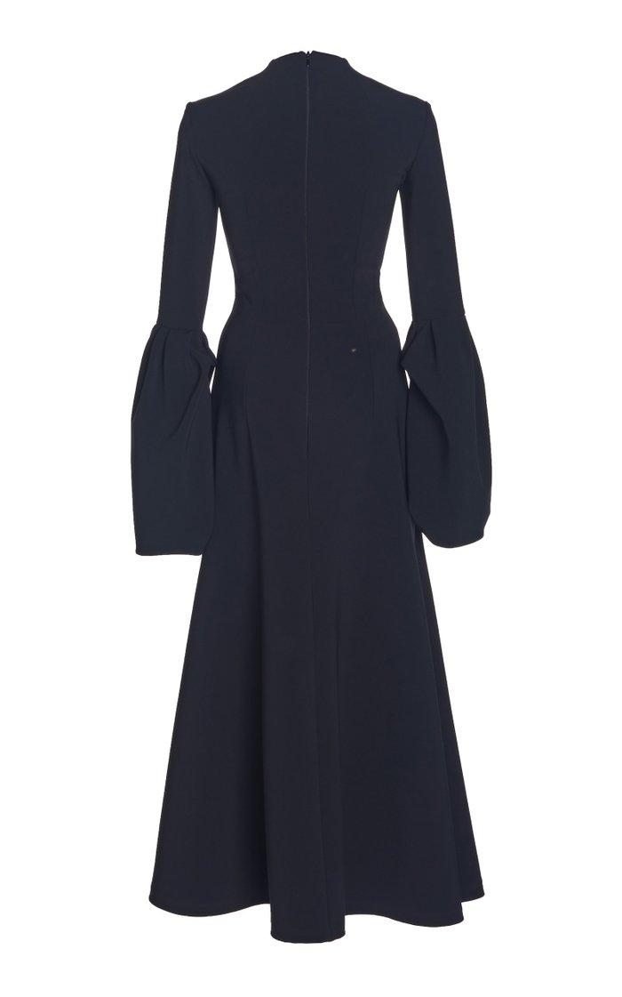 Cutout Crepe Maxi Dress