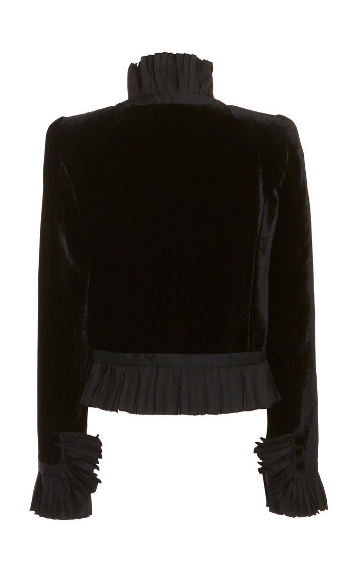 Frilled Velvet Top