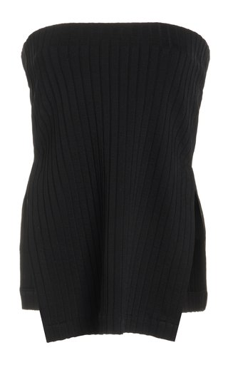 Ribbed Stretch-Knit Top