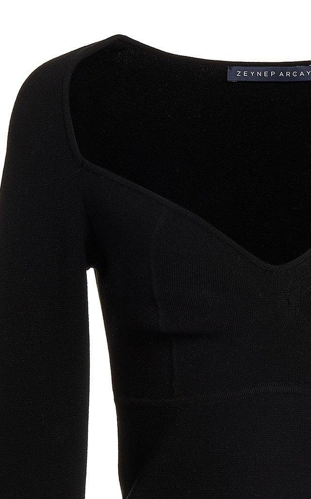 Sweetheart-Neck Knit Bodysuit