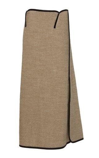 Woven Outlined Paneled Skirt
