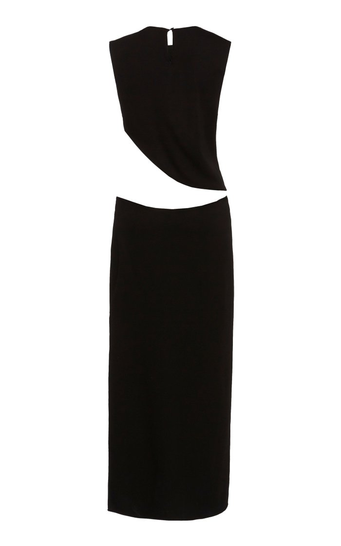 Twisted Quartz Cut-Out Jersey Dress