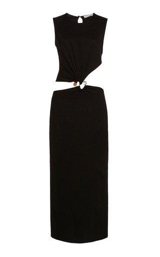 Twisted Quartz Cut-Out Jersey Dress