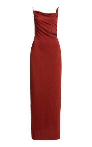 Yrjo Draped Stretch-Jersey Maxi Dress