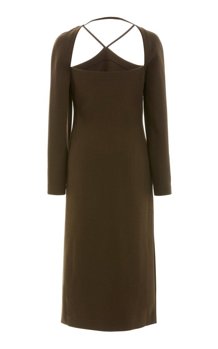Paloma Cutout Wool Midi Dress