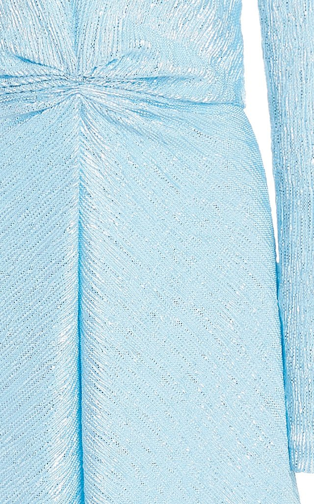 Sierra Metallic Crepe Midi Dress