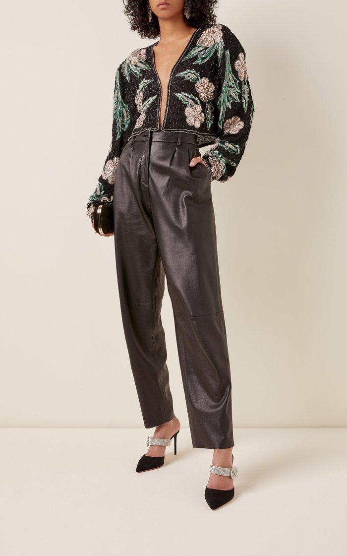 Magrit Sequined Chiffon Cropped Jacket