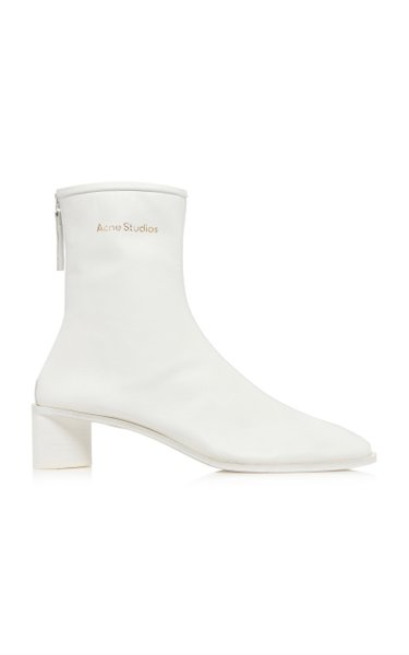 Bertine Logo Leather Boots