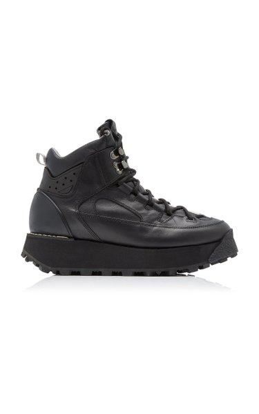 Bertrand Platform Leather Hiking Boots