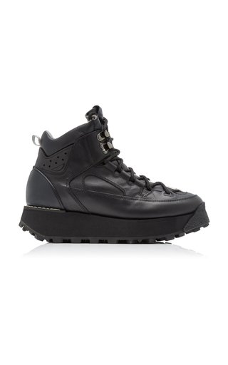 Bertrand Platform Leather Hiking Boots
