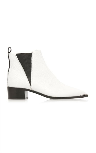 Jensen Grained Leather Chelsea Boots