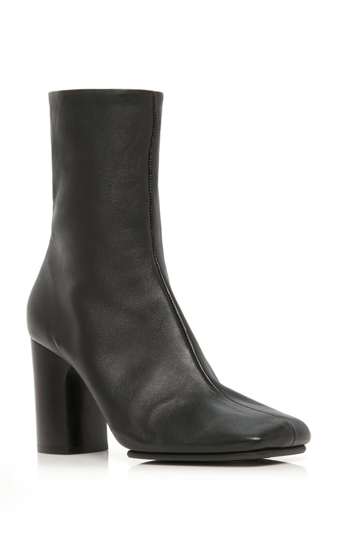 Bathy Leather Ankle Boots