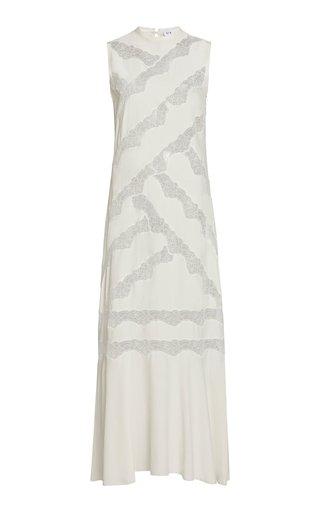 Alma Lace-Paneled Silk Maxi Dress