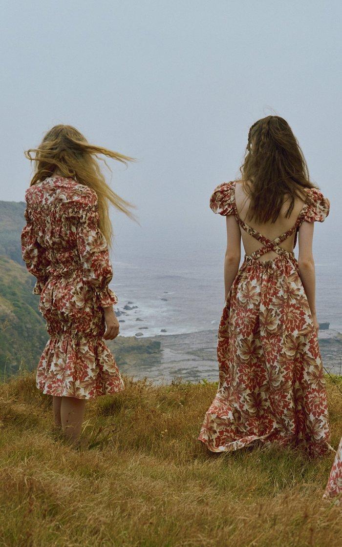 Valetta Silk Taffeta Maxi Dress