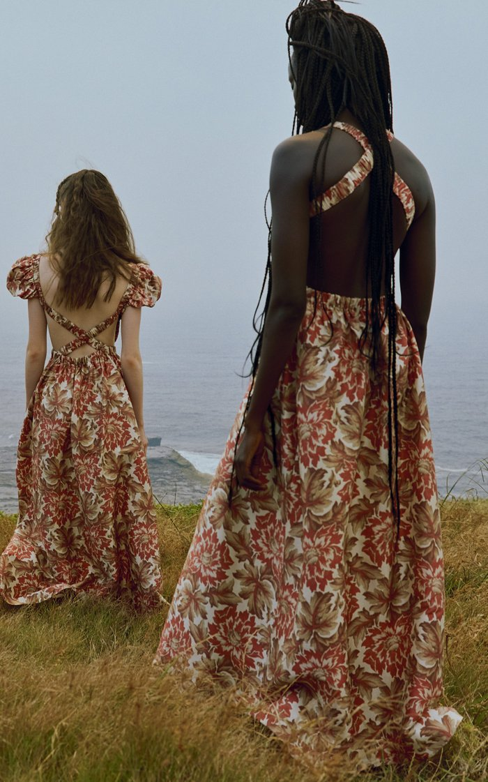 Valetta Silk Taffeta Maxi Dress