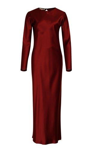 La Collection Jacqueline Silk-satin Maxi Dress In White