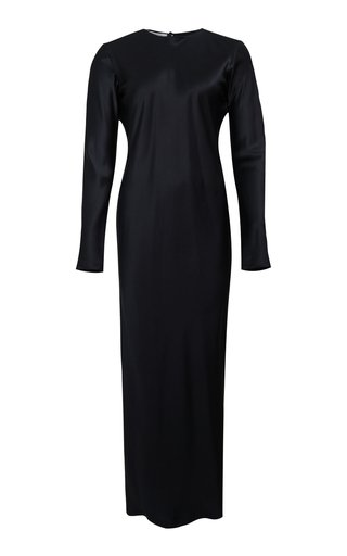 Jacqueline Silk-Satin Maxi Dress
