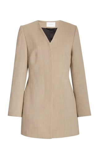 La Collection Asteria Wool Blazer In Grey