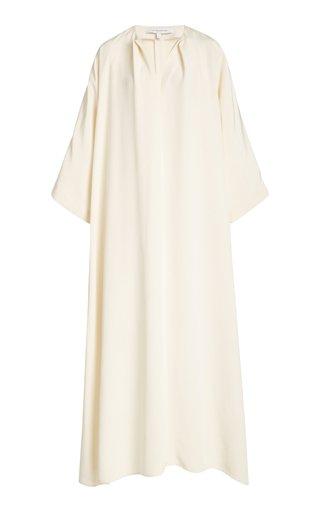 La Collection Apollo Silk Crepe Maxi Dress In White
