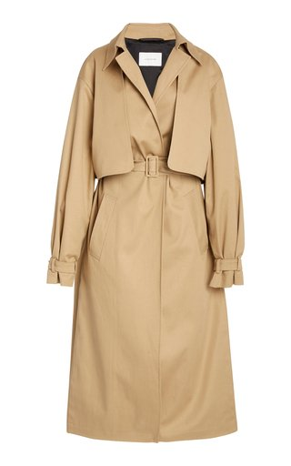 Evelyn Belted Cotton-Gabardine Trench Coat