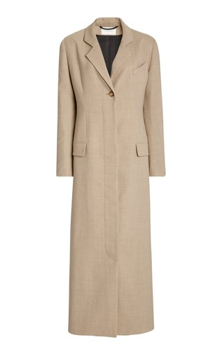 La Collection Modesty Crepe Wool Blazer Dress In Grey