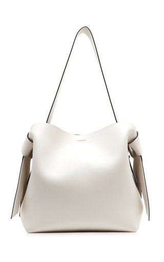 Msubi Midi Knotted Leather Shoulder Bag