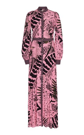 SpecialOrder-Rosella Printed Crepe Maxi Dress-NP
