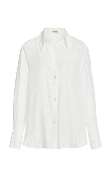 Sapporo Crystal-Embellished Oversized Silk Shirt