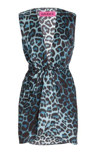 Nagano Leoaprd-Print Silk Mini Dress
